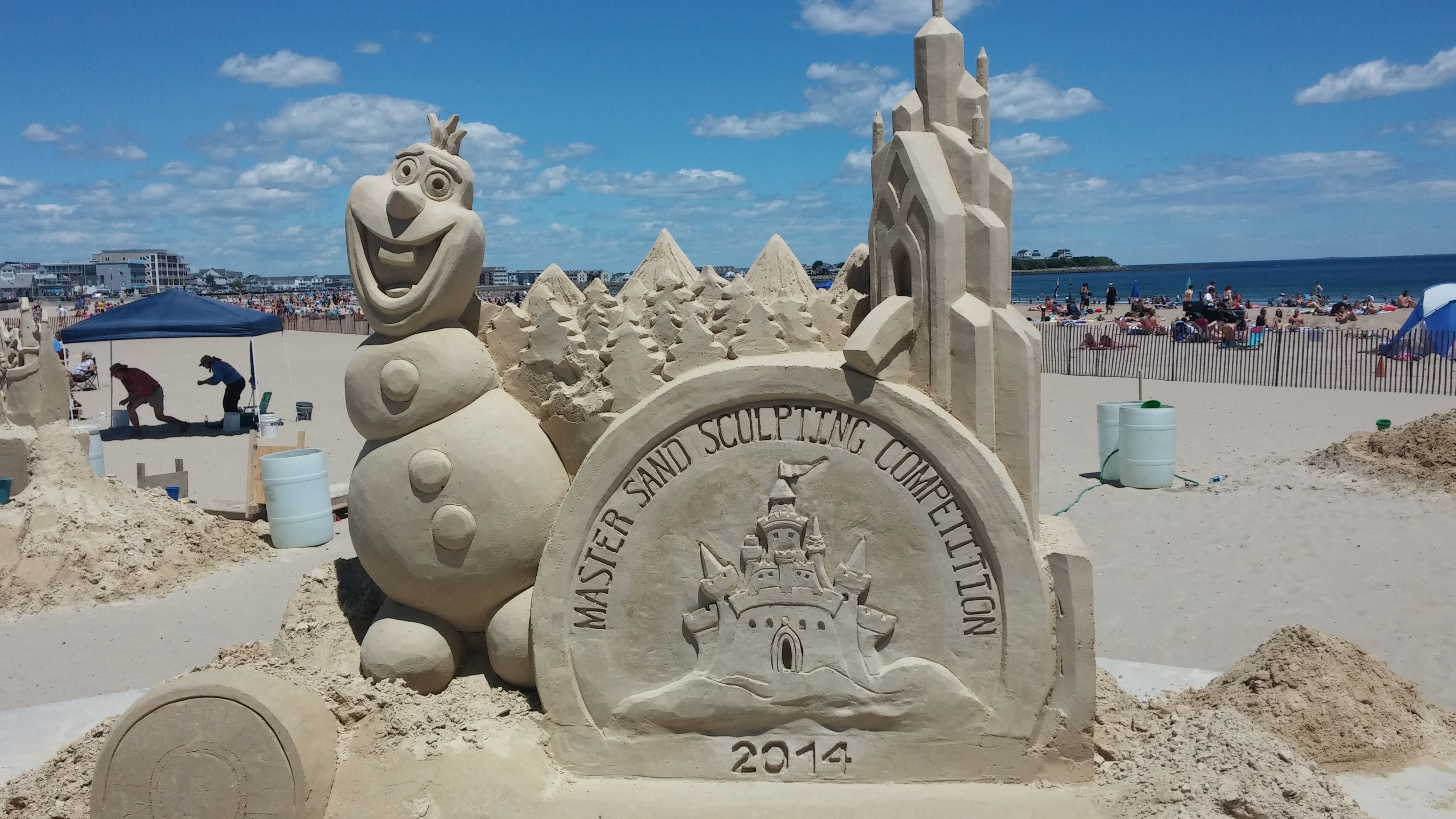 The Kids And I Decided To Spend Our First Friday Of Summer Vacation At Hampton Beach Is Curly Holding Their Annual Master Sand Sculpting