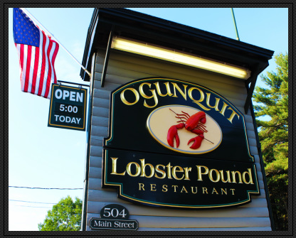 Ogunquit Lobster Pound Sign