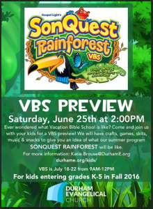 Rainforest VBS
