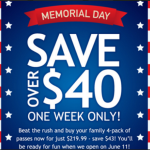 Water Country-Save $43 with this Memorial Day Sale!!!!