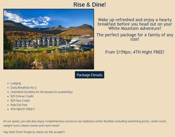 Mountain Club On Loon~ Get a night free!