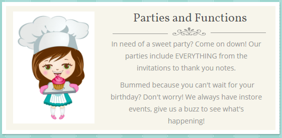The Cake Fairy: Upcoming Events……
