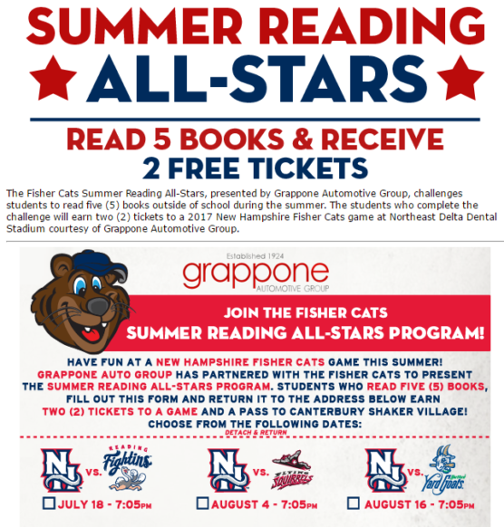 Summer Reading Programs 2015, 2016 and now 2017