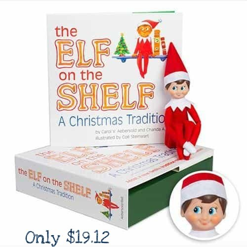 Elf on the Shelf: A Christmas Tradition (Blue-Eyed Boy) only $19.12